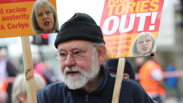 People demonstrate during a TUC rally in central London (Gareth Fuller/PA)