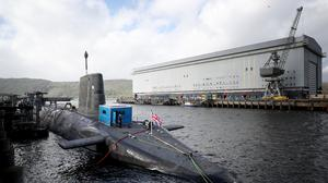 HM Naval Base Clyde is home to Britain's nuclear deterrent (Jane Barlow/PA)