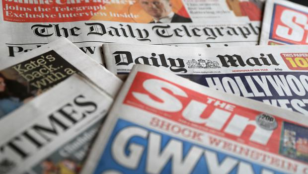 What the papers say- February 14 (Peter Byrne/PA)