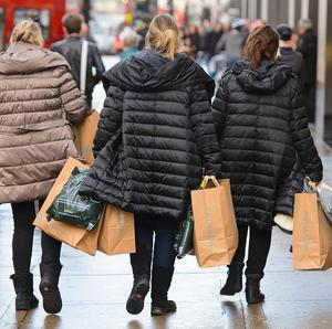 High street sales have increased despite the exceptionally wet weather