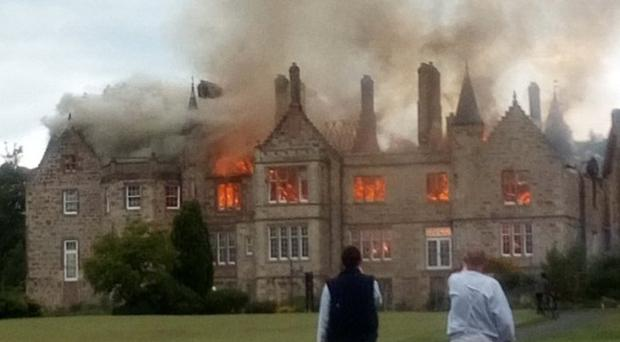 A building near Belleisle golf course is on fire (@lastpagefirst/Twitter/PA)