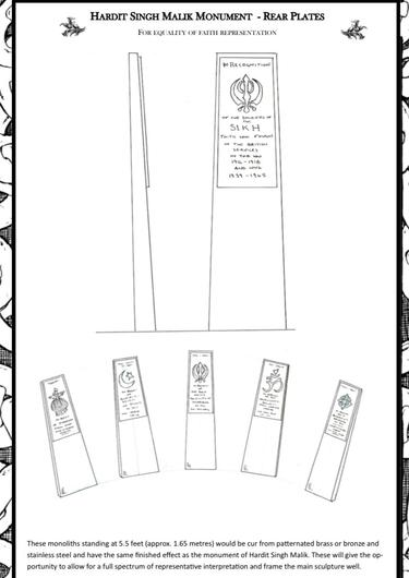 Plans for the memorial plates to be installed in Southampton in April 2023. (OCHD/PA)
