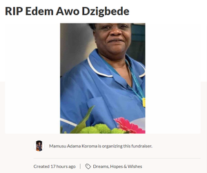 Edem Dzigbede has been described as 'a blessing to everyone she came across' (Screengrab/GoFundMe)