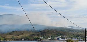 Wildfire on the Isle of Skye (Andrew MacDonald/PA)