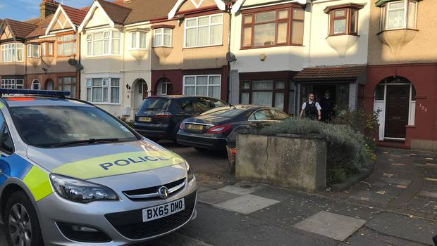 The family home in Applegarth Drive, Ilford, east London, where heavily pregnant Sana Muhammad, 35, was fatally shot with a crossbow (Emma Bowden/PA)