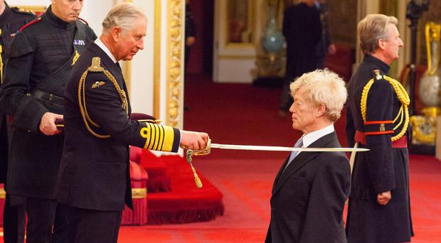 Professor Sir Roger Scruton is made a Knight Bachelor of the British Empire (Dominic Lipinski/PA)