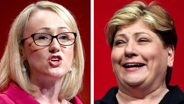 Undated file photos of Rebecca Long-Bailey (left) and Emily Thornberry who will set out their visions for the Labour Party as they launch their rival bids to succeed Jeremy Corbyn as leader.