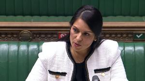 Priti Patel said Labour MPs who spoke out against her held 'racist' perceptions of what ethnic minority women should stand for (Commons/PA)