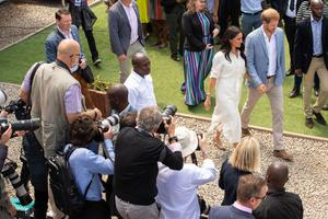 The Sussexes in South Africa (Dominic Lipinski/PA)