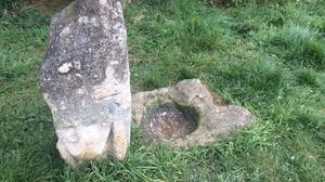 The plague stone (right) next to the Hob Stone on Hob Moor, York (PA)
