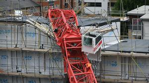 The 20-metre crane collapsed on to terraced house in July (Dominic Lipinski/PA)