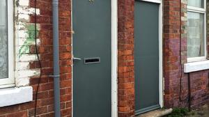 Asylum seeker doors in Middlesbrough had to be repainted after the controversy