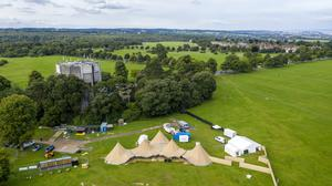 The teepee village has been constructed for a new outdoor pop-up restaurant and pub garden (Steve Parsons/PA)