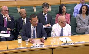 An appearance by James and his father before the Culture, Media and Sport Select Committee made headlines amid the News of the World phone-hacking scandal.