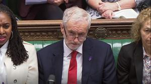 Labour leader Jeremy Corbyn listens during Prime Minister's Questions in the House of Commons (PA)