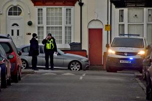 Police at the scene in Linwood Road, Handsworth (Matthew Cooper/PA)