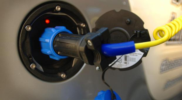 A charging point for electric vehicles (Fiona Hanson/PA)