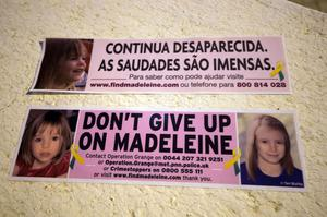 Car bumper stickers raising awareness of Madeleine in Praia Da Luz, Portugal to mark the 10th anniversary of her disappearance.
