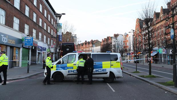 Police activity at the scene in Streatham High Road (Aaron Chown/PA)