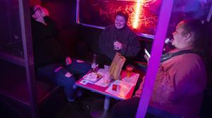 Members of the public who have ordered McDonalds at the G-A-Y bar in Soho (Aaron Chown/PA)