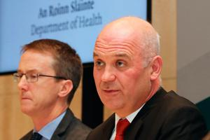 Dr John Cuddihy, HSE director of public health (left), and Dr Tony Holohan