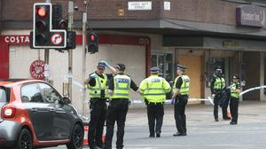 Part of Argyle Street in Glasgow was cordoned off after someone was stabbed (Andrew Milligan/PA)