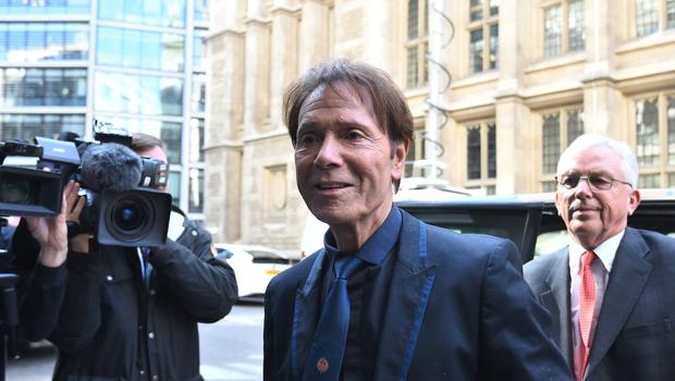 Sir Cliff Richard claims the BBC infringed his privacy (Kirsty O'Connor/PA)