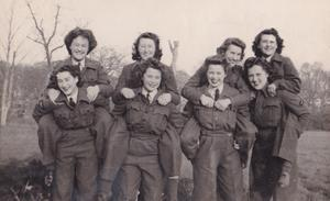 Kath McLeod, back right, was a former radar operative (Family handout/PA)