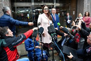 Anderton Park head teacher Sarah Hewitt-Clarkson speaks to the media after the ruling (Jacob King/PA)