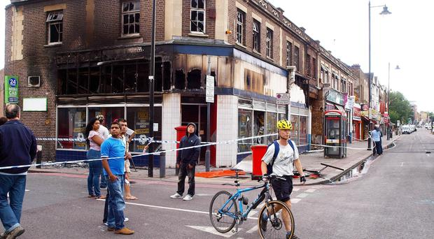 Tottenham High Road after the 2011 riots. The high street is one of 69 which has won government funding for an upgrade. (Max Nash / PA)