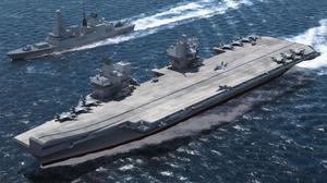 The drone will be used on the Navy's new Queen Elizabeth Class carriers