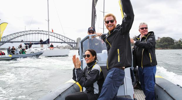 The Duke and Duchess of Sussex in Sydney harbour (Chris Jackson/Invictus Games Foundation/PA)