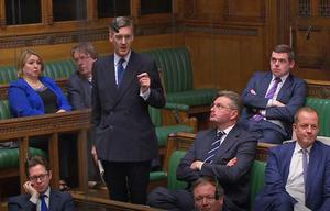 Eurosceptic Conservative MP Jacob Rees-Mogg speaks in the House of Commons during a Brexit debate ahead of a second round of votes on alternative proposals to the government's Brexit deal (PA)