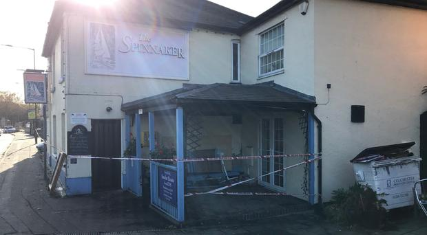 Damage caused to the the Spinnaker Public House in Colchester (Joe Gammie/PA)
