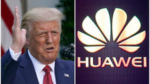 President Trump claimed credit for the UK's Huawei decision (AP/PA)