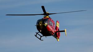 Two people were taken to hospital by air ambulance (David Davies/PA)