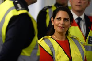 Home Secretary Priti Patel, pictured during a visit to Dover last year, has vowed to stop the people smugglers behind migrant crossings to Britain (PA)