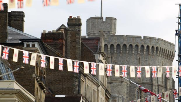 Windsor will be decorated with bunting as the town celebrates the royal wedding