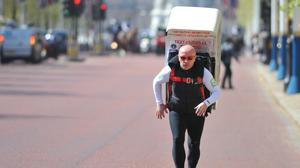 Tony Phoenix-Morrison became famous because of his fundraising runs with a fridge on his back