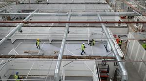 Work continues at the NHS Nightingale Hospital North East (Owen Humphreys/PA)