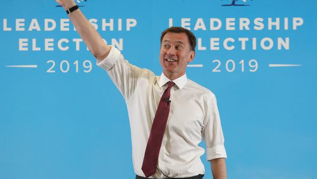 Jeremy Hunt speaking in Exeter during a Tory leadership hustings (Andrew Matthews/PA)