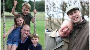William with his children and father (Duchess of Cambridge/Kensington Palace/Clarence House/PA)