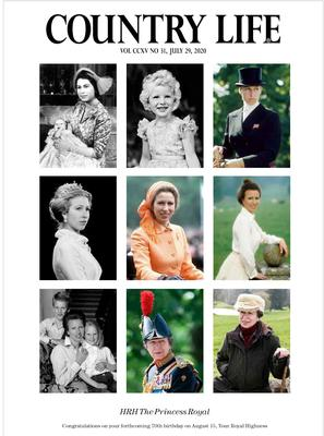 The magazine features a collection of the photographs of Anne that have appeared in the publication over the years (Country Life/PA)