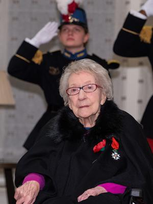 Jean Neal was presented with the Legion d'Honneur in London (Dominic Lipinski/PA)