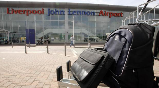 Liverpool John Lennon Airport has been closed after a plane came off the runway (Peter Byrne/PA)