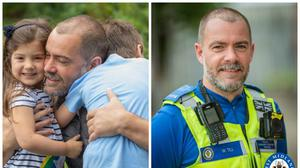 William Till is reunited with his family (Brigg Ford/West Midlands Police/PA)