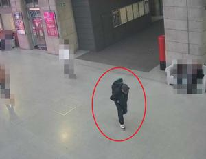 CCTV image of Salman Abedi at Victoria Station making his way to the Manchester Arena (GMP)