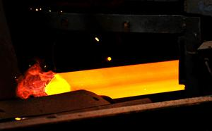 A steel furnace in Corby (Rui Vieira/PA)