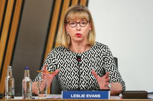 Permanent Secretary Leslie Evans giving evidence to the committee (Russell Cheyne/PA)