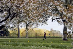 People have been permitted one form of exercise per day (Steve Parson/PA)